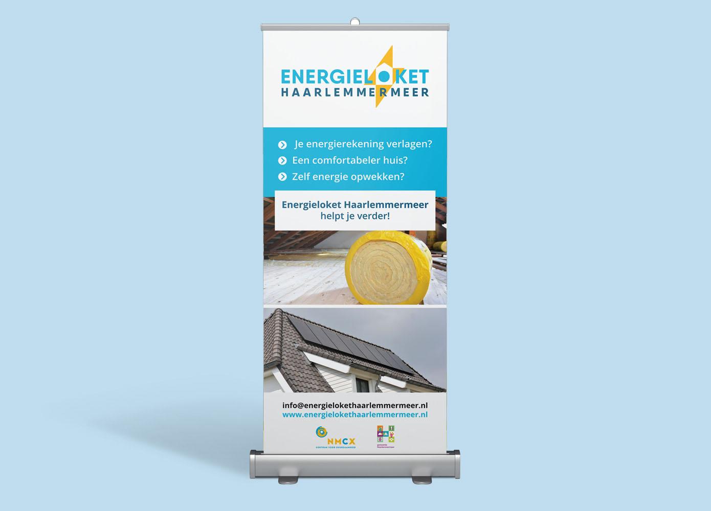Roll-up banner ontwerp van Energieloket Haarlemmermeer