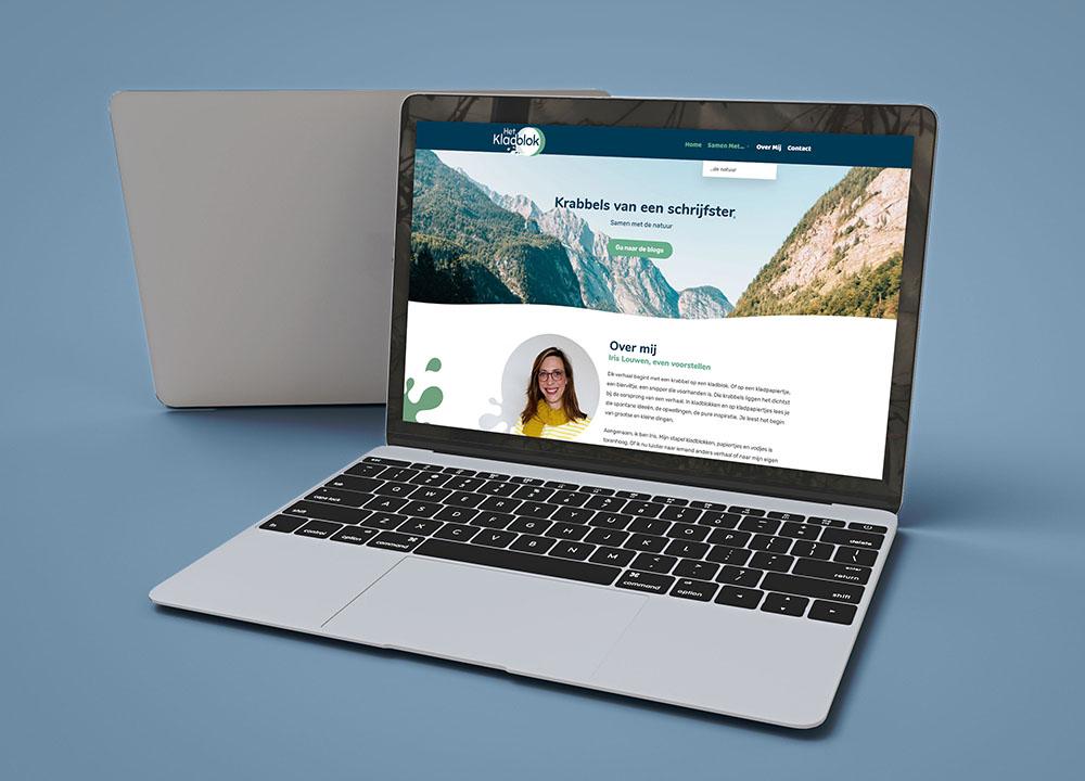 Website ontwerp Het Kladblok