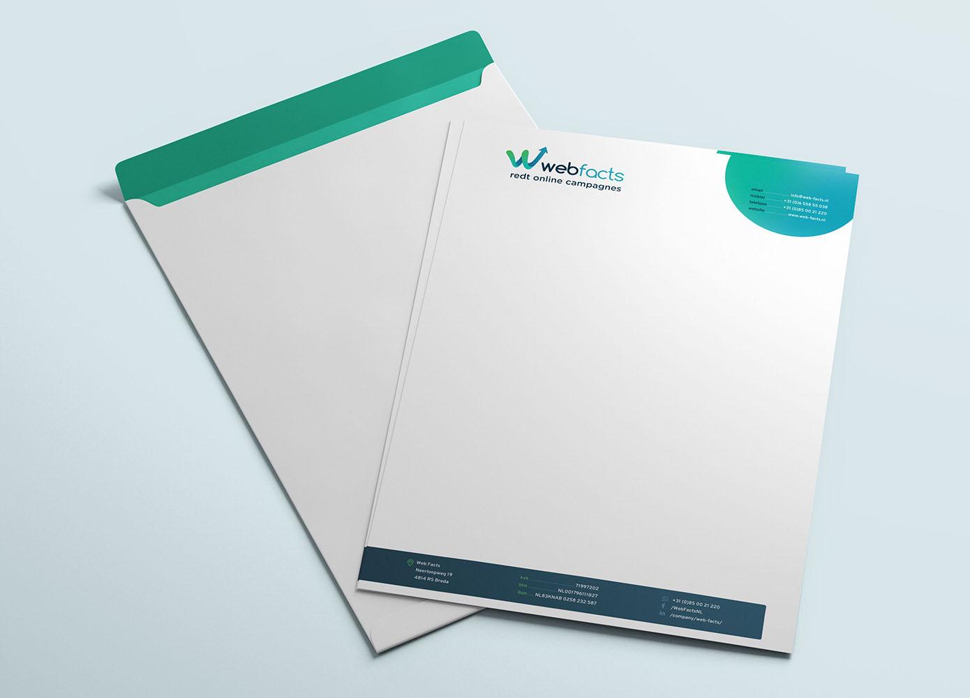 Briefpapier en envelop ontwerp van Webfacts