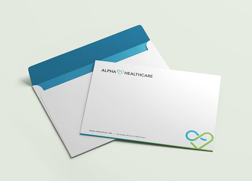 Envelop ontwerp Alpha Healthcare