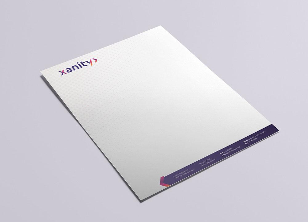 Briefpapier ontwerp van Xanity