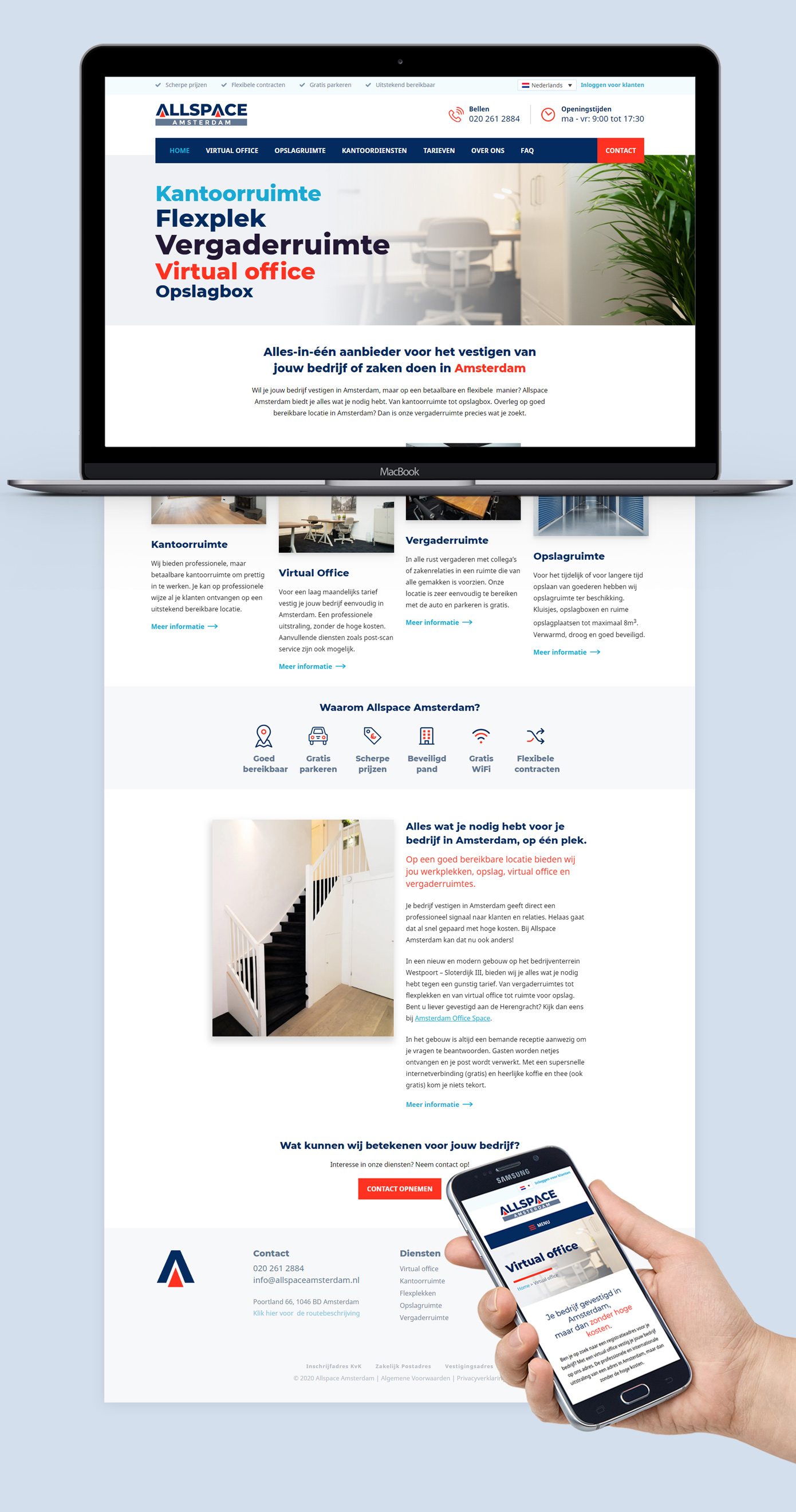 Website ontwerp Allspace Amsterdam