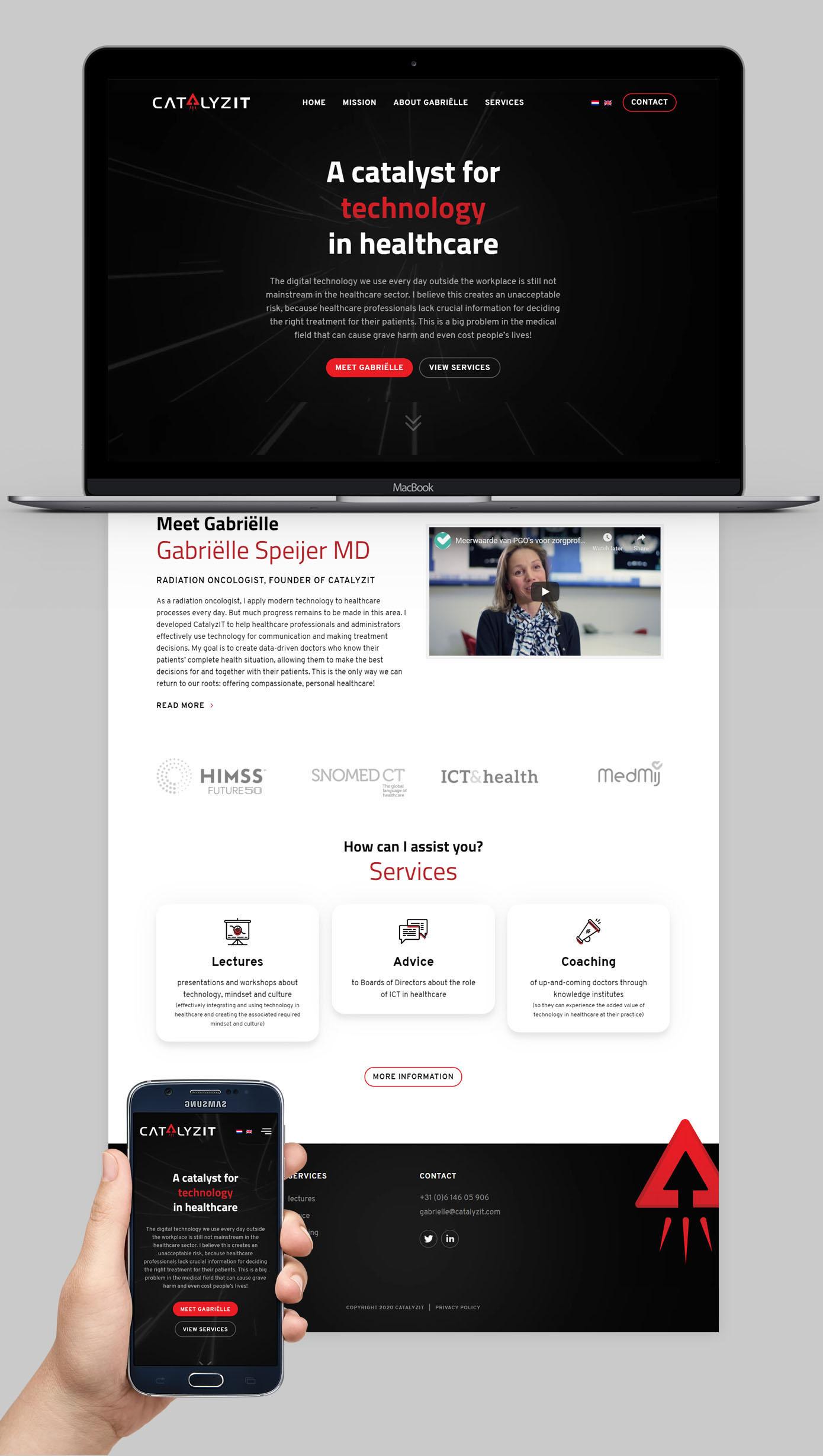 Website ontwerp CatalyzIT