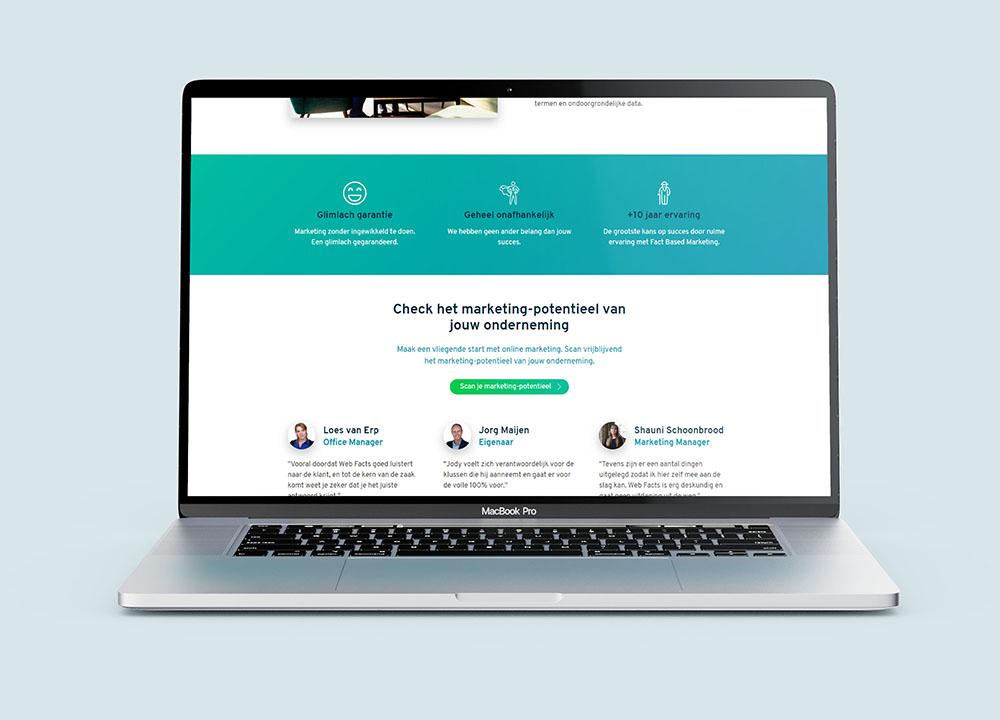 Website ontwerp van Webfacts