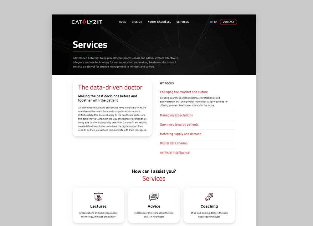 Website ontwerp CatalyzIT #2